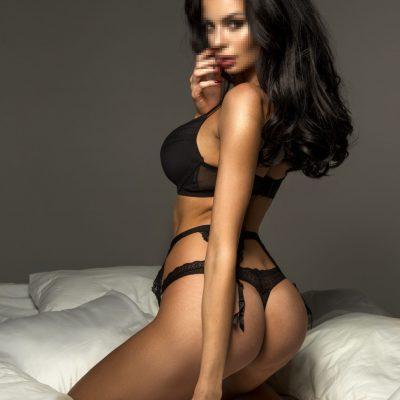 Kassandra wearing Black lingerie