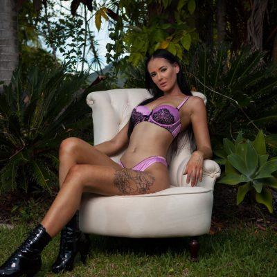 Raven Sunshine Coast bucks party waitress on chair