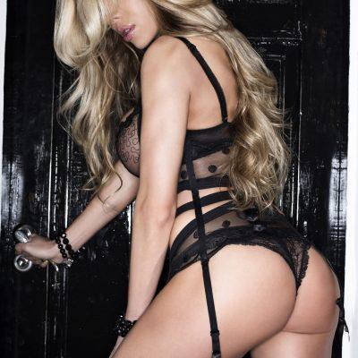 Gosford Strippers in black lingerie
