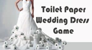 toilet paper wedding dress bride